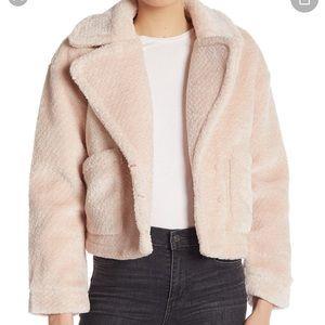 BLOOMINGDALES Bagatelle Fuzzy Pink Coat